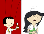 Brian going to put a soda on Beth's stomach by MarcosPower1996