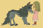 Nina and Wolfie by SamCyberCat