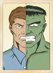 BRUCE BANNER IS HULK by paintmarvels