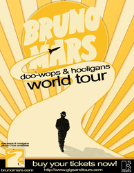 Bruno Mars Tour Poster by inmany