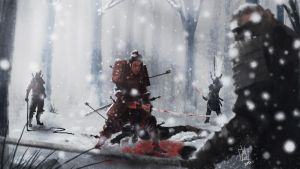 Samurai in Snow by geeshin