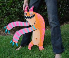 monster wood cut out two by missmonster