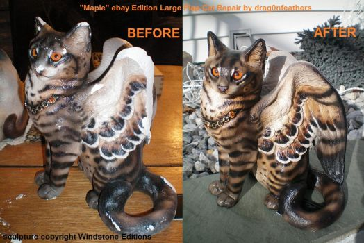 Windstone Editions ebay Maple Lg Flap Cat Repair by drag0nfeathers