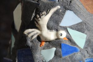 Mosaic Bird by oddjester
