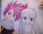 NaLu Moments (Partially Colored) by iamanimegirl12