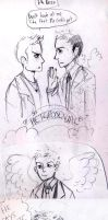 Supernatural : Destiel Sketches 2 by inu-steakcy