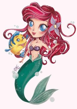 Chibi Ariel - mermaid by AlexandraFolgado