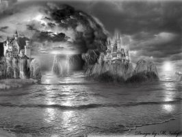 Ocean and castles by MNicky