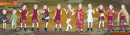 Naruto - Sakura Haruno PACK (Ver. 2.0) FOR XPS!! by MVegeta