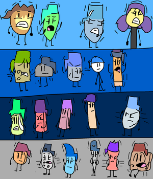 BFDI Cast (Except Pen) to Pens by jaybirdking85