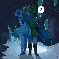 Ruto and Link Ice Cave by Goobermation