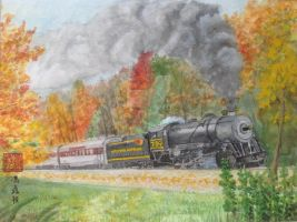 Autumn Express by drawing425
