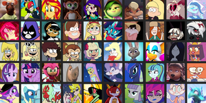 Waifu Chart (Updated) by SpongeBat1