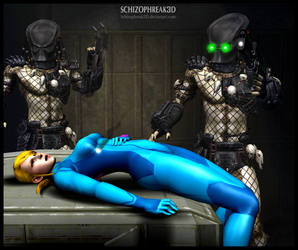 Game over for you, Samus by Schizophreak3D