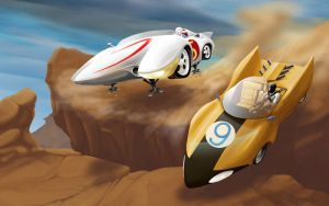speed racer vs racer x by ARM0UR0S
