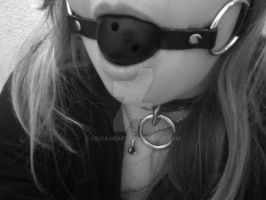 My Collar and Gag by devulheart