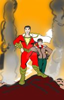 Shazam! - 2019 film version in C.C. Beck Style by Selecthumor