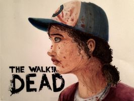 Copic Clementine Walking Dead by Colorpaletpony