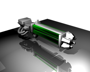 Necron Cannon 3D Model by sethiroth66