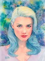 Amber Heard watercolor by Trunnec