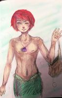 Male Ariel - coloured sketch by PukaaParanoid