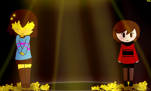 NewFlower Frisk and Sweety by KiddoDrawsOficial
