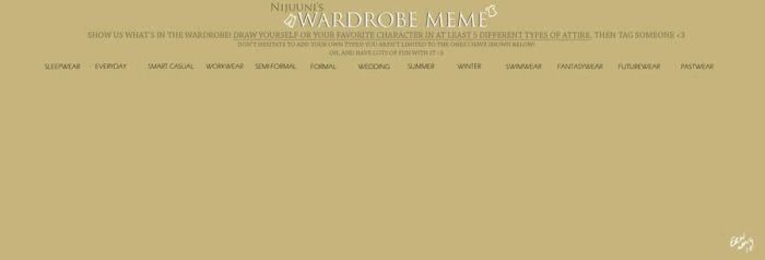 Nijuunis Wardrobe Meme BLANK by xxwing