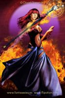 Fire Sorceress by flipation