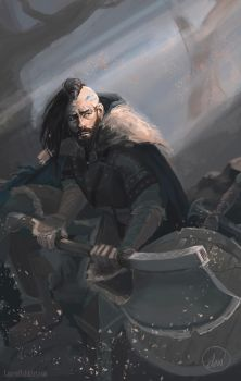 Thrandulf, The Vagrant Knight [Day 6] by LaurenWalsh