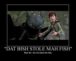 HTTYD Poster - Toothless' Fish by TheNerdYouAllLove