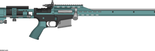 Competition Rifle. by BeadedGreenLizard