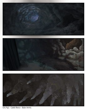 in the caves. by arinfu