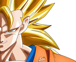 Goku SSJ3/ Face by SaoDVD