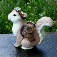 Steampunk Squirrel by MysticReflections