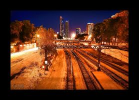Metra Rail in Chicago by dx