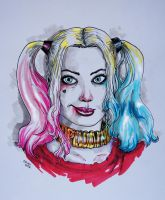 Harley portrait with markers by sonicboom35