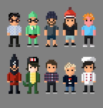 More YouTube Characters Collection by LustriousCharming