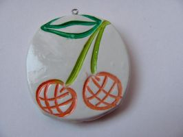 Funky Cherry Pendant by thistlesis