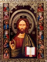 Jesus Christ and the apostles by GalleryZograf