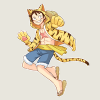 Tora Luffy by GhostOfPing