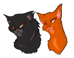 Yellowfang x Foxheart by Trunswicked