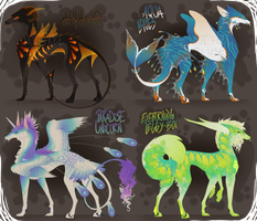 Eeto Greyhound Prototype Adoptables - OPEN by Kyra-Adoptables