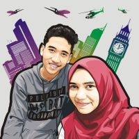 Hilma Dahniar and Farhan Zikry on Urban Vector Bac by macanzdigiart