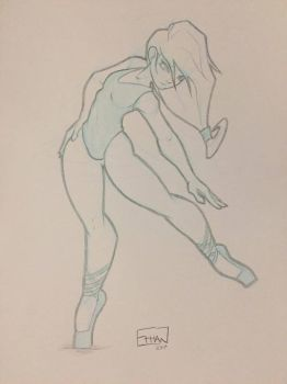 Dancer Sketch by Ethan2501