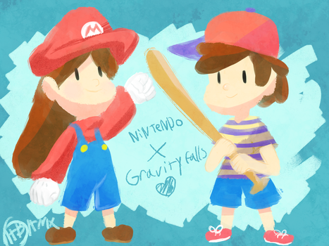 Dipper And Mabel Cosplay As nintendo Characters by TakeoTheSavage