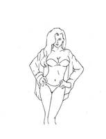 Vicki vale drawing by electronicdave