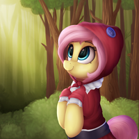 Red Riding Fluttershy by VanillaGhosties