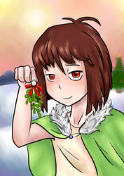 Christmas Chara! by DeathwithUndertale