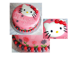 Hello Kitty Cake by clvmoore