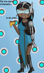 Symmetra from Overwatch with Pineapple Pizza by smilewolfy
